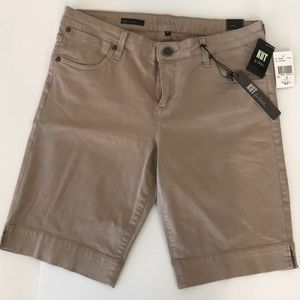Kut from the Kloth Bermuda Shorts Taupe SZ 12